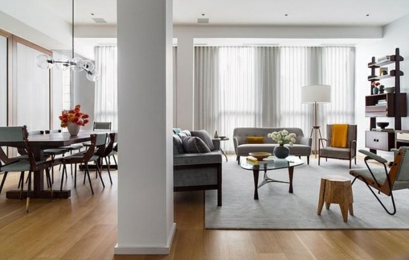 gelbe Akzente Wohnzimmerdesign