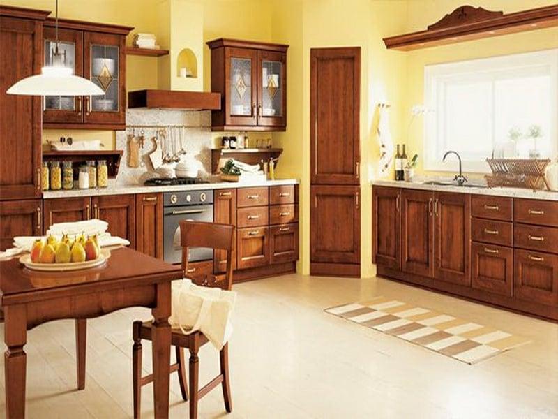 provence küche in gelbfarbe