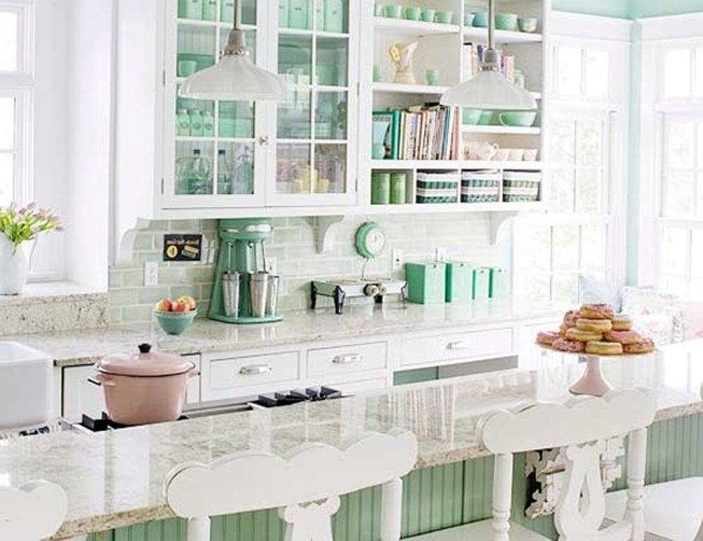 wohnideen für grün in der provence küche