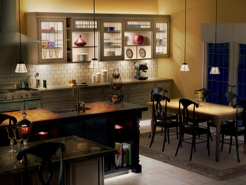 gemütluche matte küchenbeleuchtung