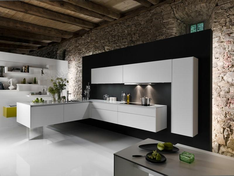 küchenbeleuchtung und steine
