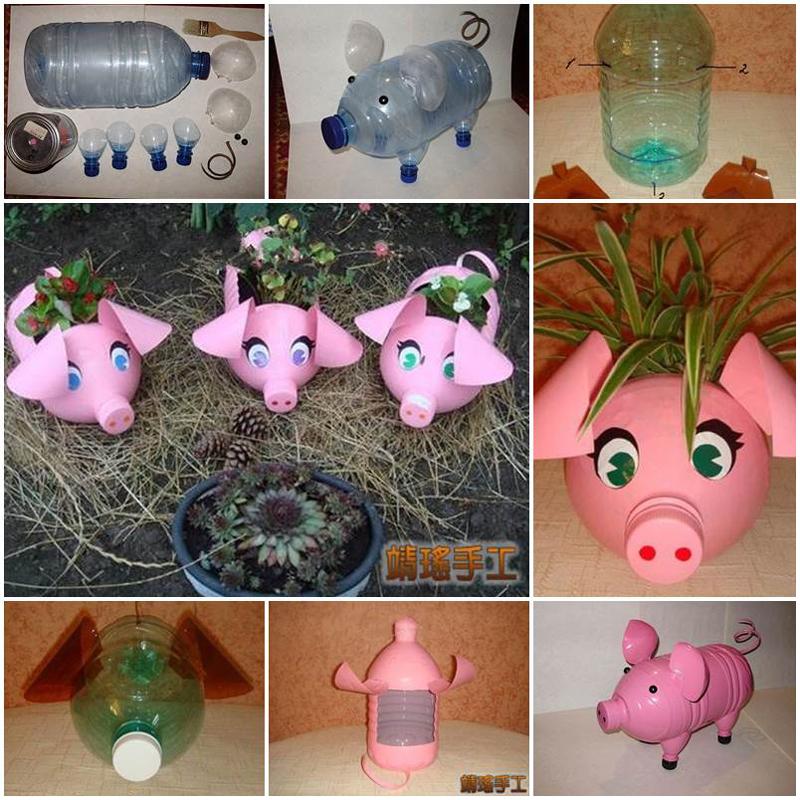 umweltfreundliche kleine schweinchendeko