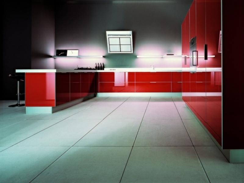 rote ledküchenbeleuchtung