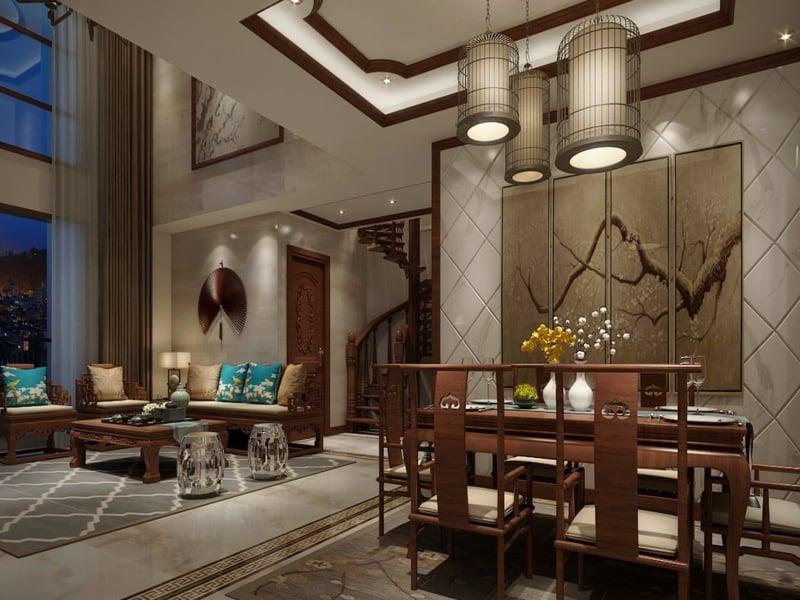 fung shui und luxus im esszimmer