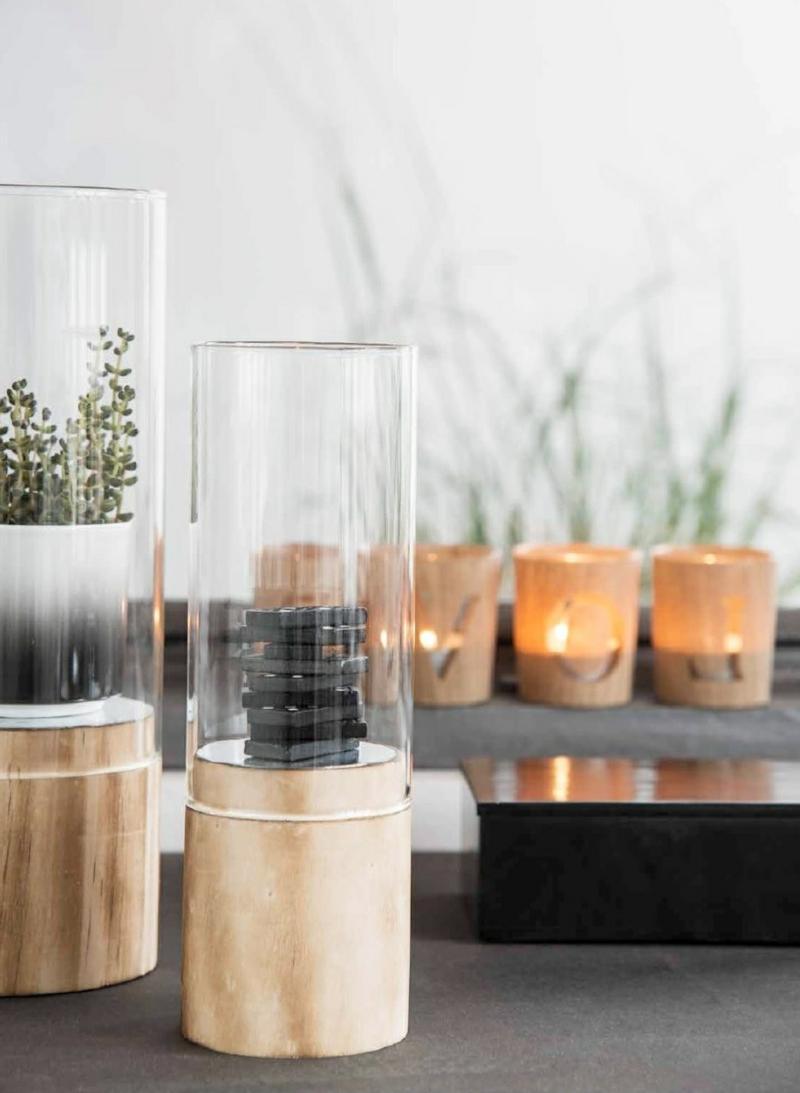 madam stoltz kerzenständer aus glas