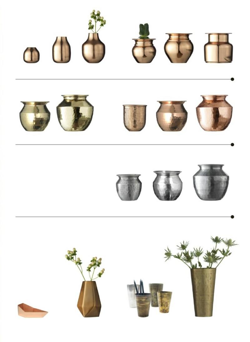 madam stoltz kupfer silber vasen