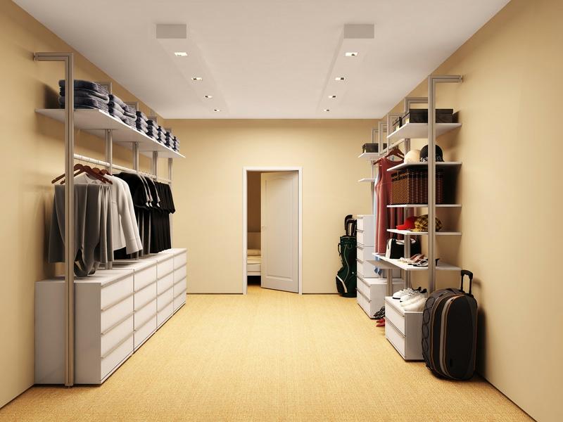 minimalistischer behebarer kleiderschrank