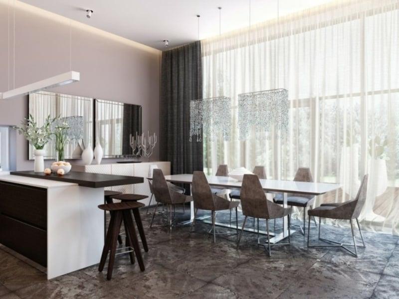 minimalistische möbel für esszimmer nach feng shui