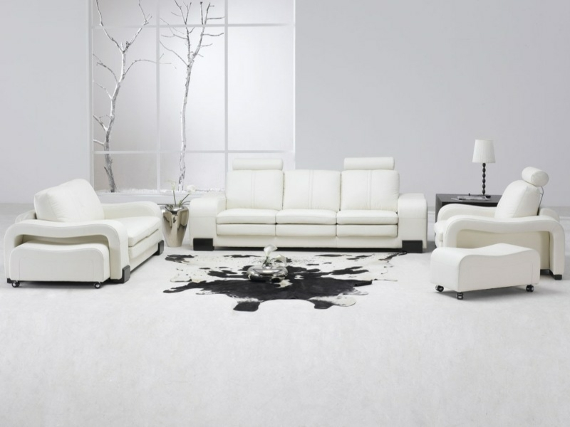 moderne Wandfarben in Weißtönen