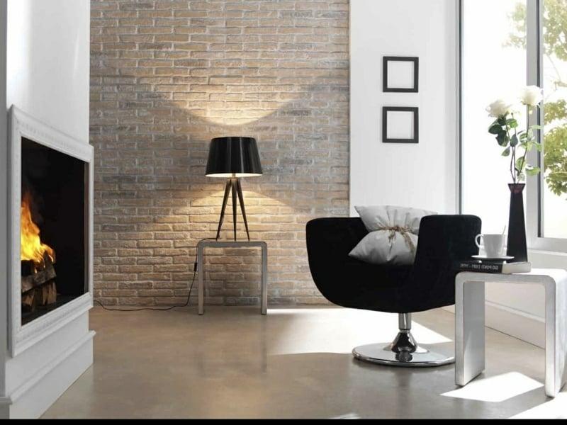 moderne Wandfarben und akzent in schwarz