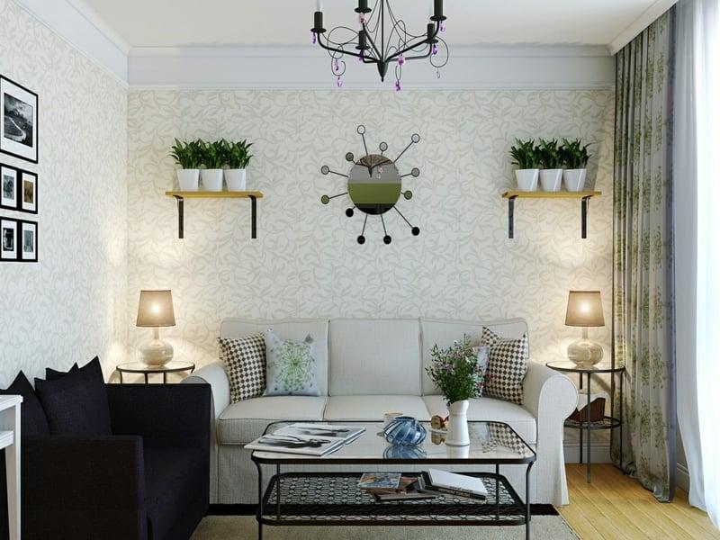 25 ideen f r moderne wandfarben in wei t nen deko feiern zenideen. Black Bedroom Furniture Sets. Home Design Ideas