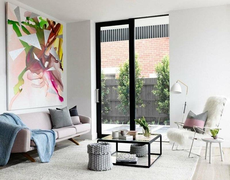 originelles Gemälde Wohnzimmerdesign