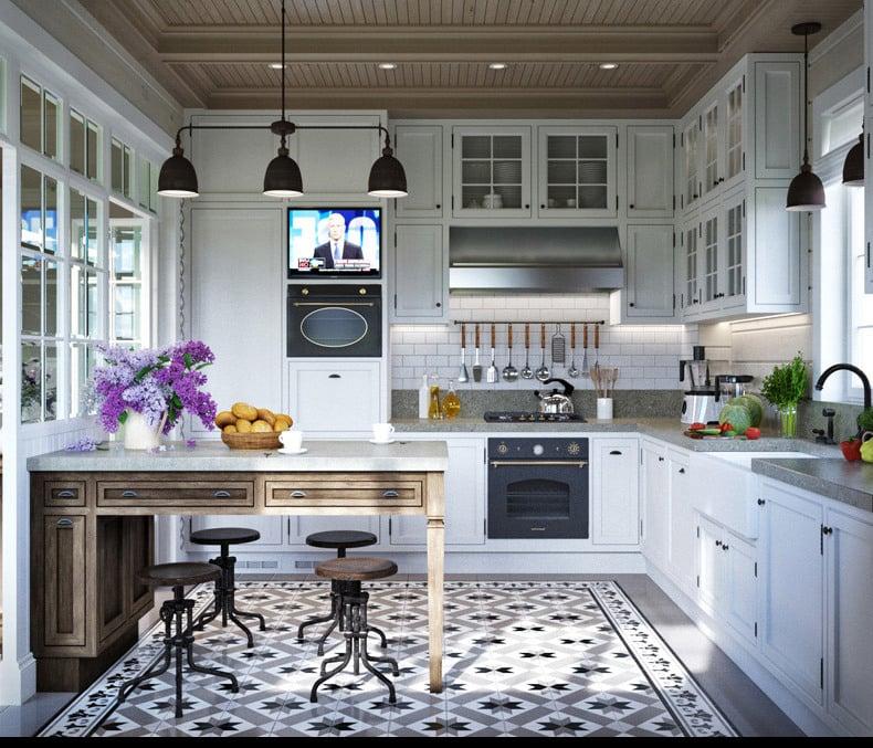 wohnideen für modernismus  in der provence küche