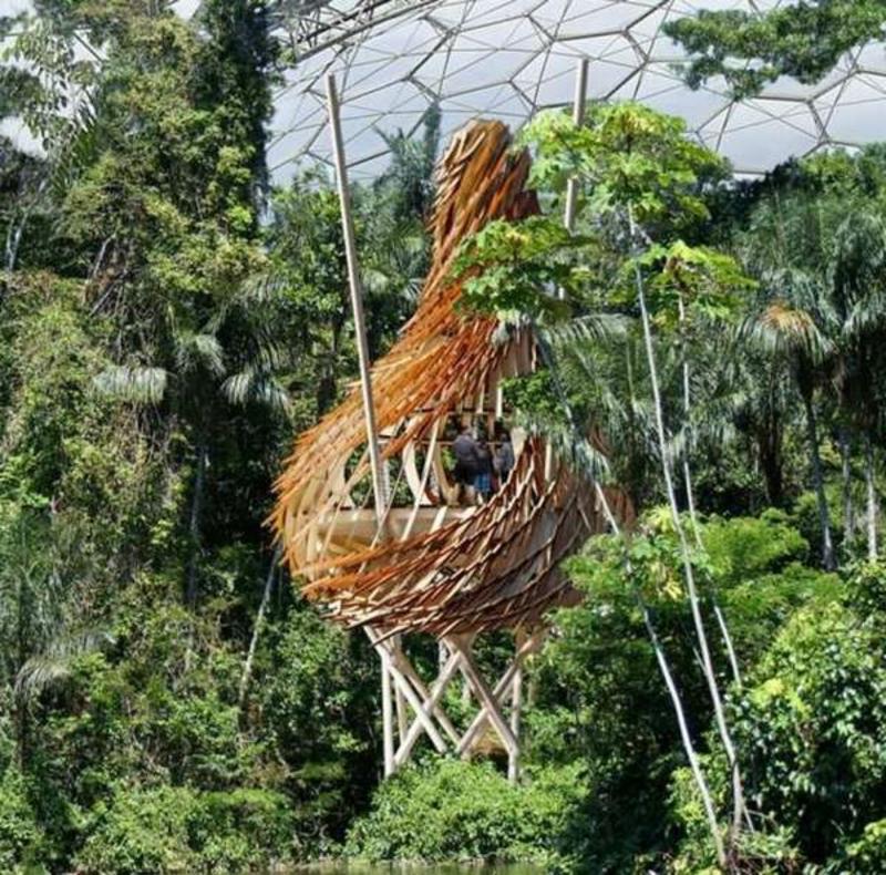Moderne Gartenhäuser nestartiges Baumhaus