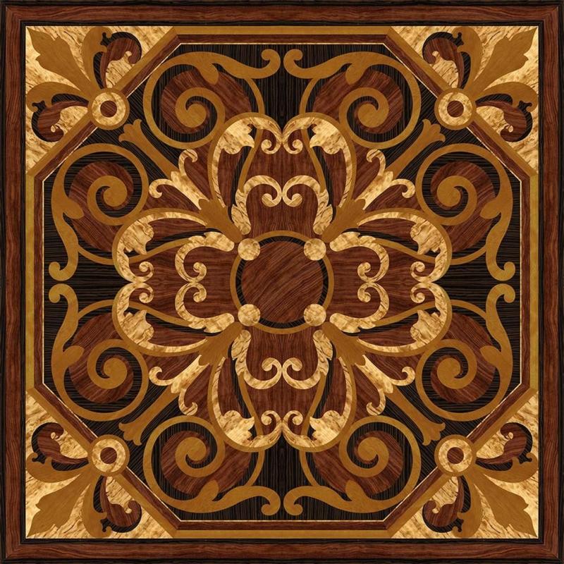 symetrische dekoration auf dem parkett