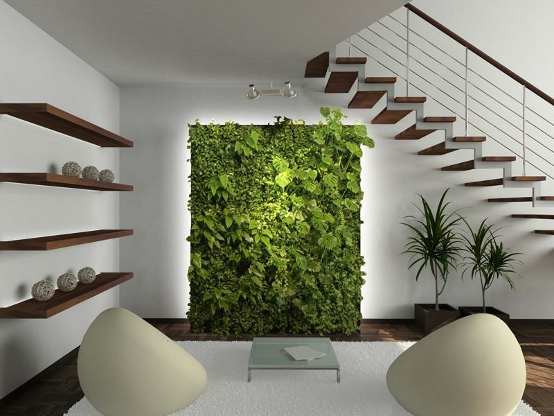 Platz Für Grüne Pflanzen Unter Dem Treppenhaus Gestalten