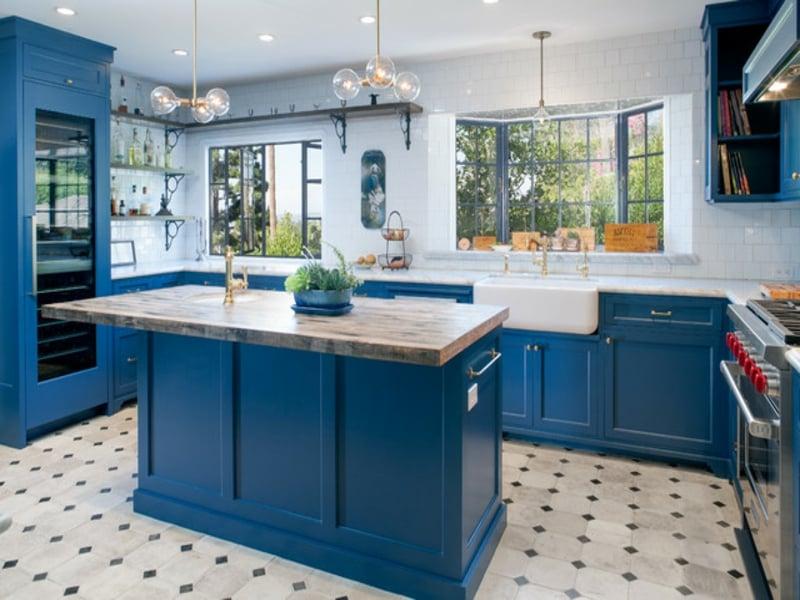 blaue provence küche