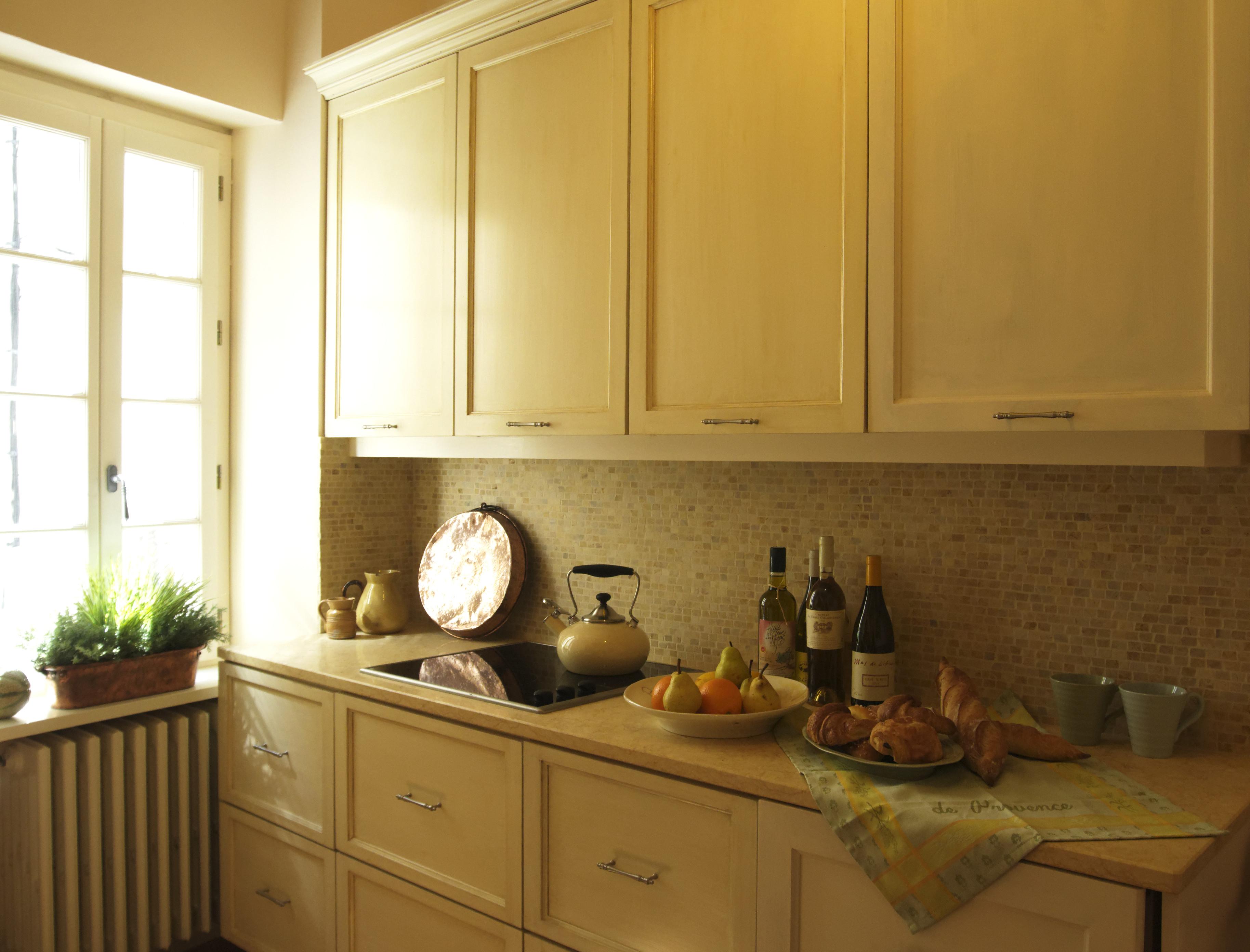 wohnideen in gelb für die provence küche