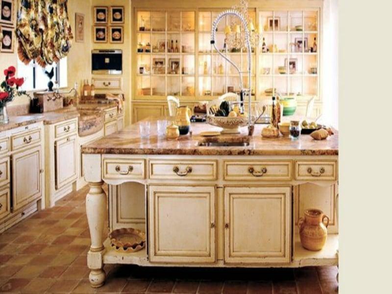 schöne wohnideen in der provence küche