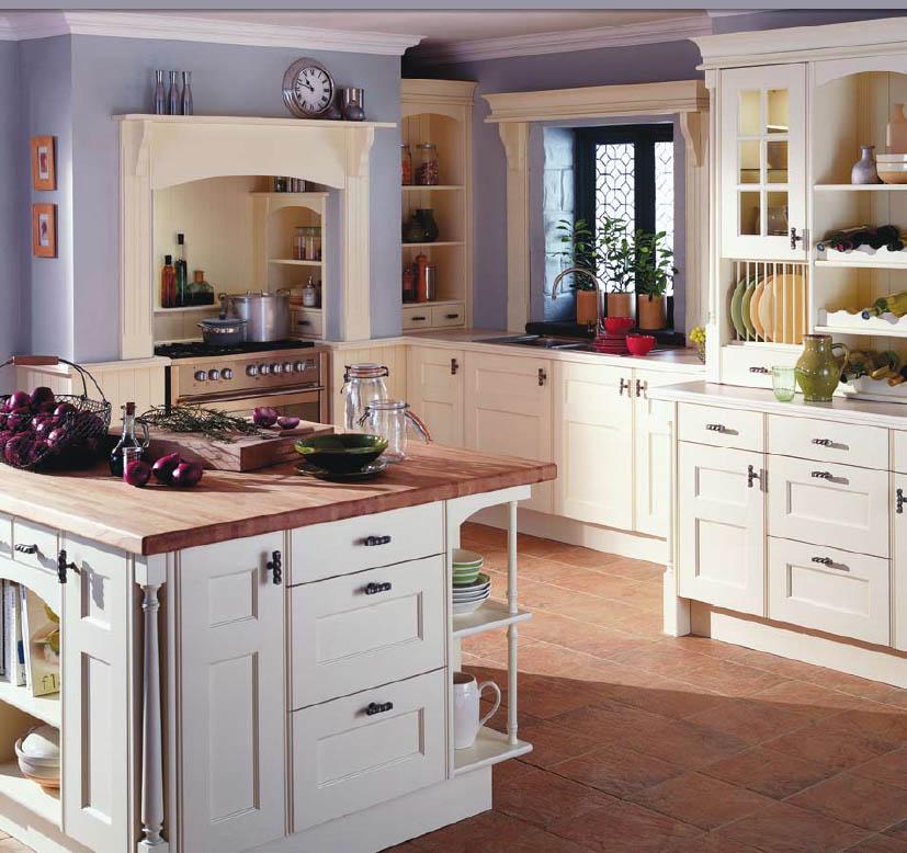 lila wohnideen für die provence küche