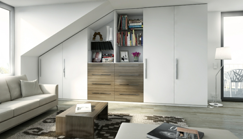schrank dachschr ge praktische l sungen innendesign m bel zenideen. Black Bedroom Furniture Sets. Home Design Ideas