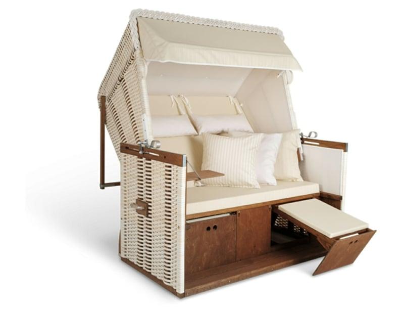 urlaubsfeeling im garten mit strandkorb sylt deko. Black Bedroom Furniture Sets. Home Design Ideas