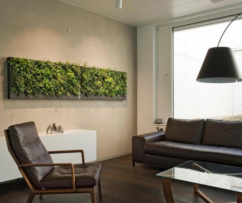 vertikaler garten gruene Wand