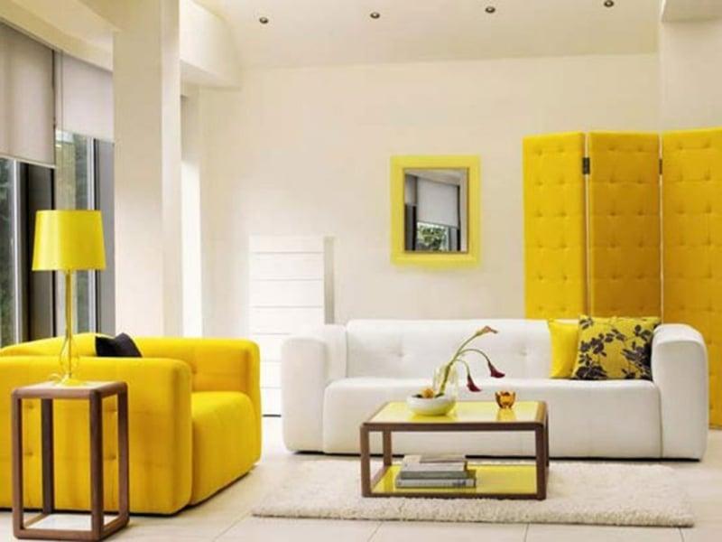 Einrichtungsbeispiele in Gelb