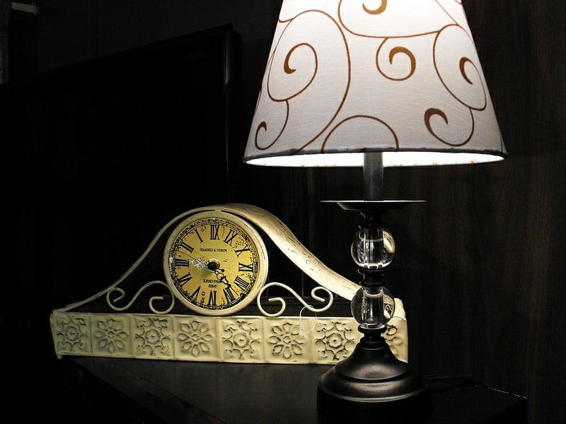 vintage lampe als akzent