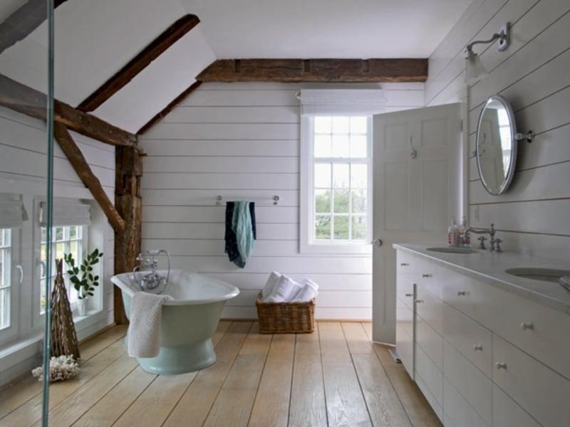 minimalismus im vintage badezimmer
