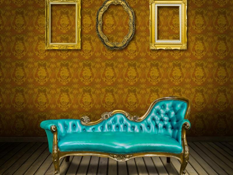 designer vintage sofa