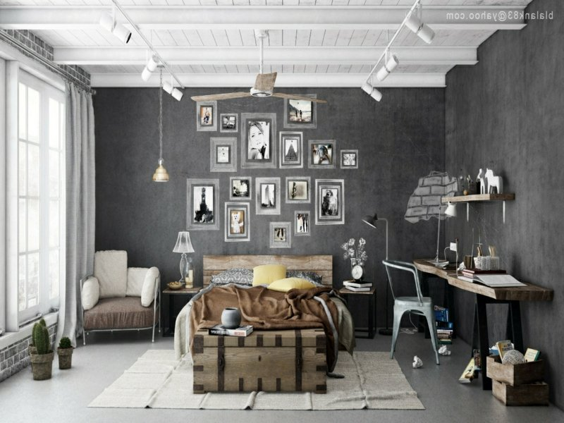 schlafzimmer vintage wohndesign. Black Bedroom Furniture Sets. Home Design Ideas