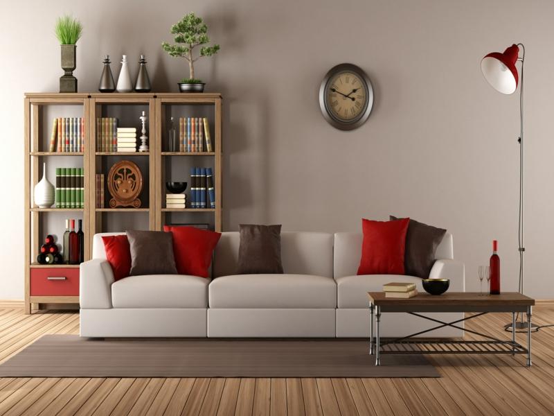 vitage wohnzimmer mit einer wanduhr