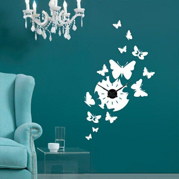 Gemalte Schmetterlinge auf der Wand