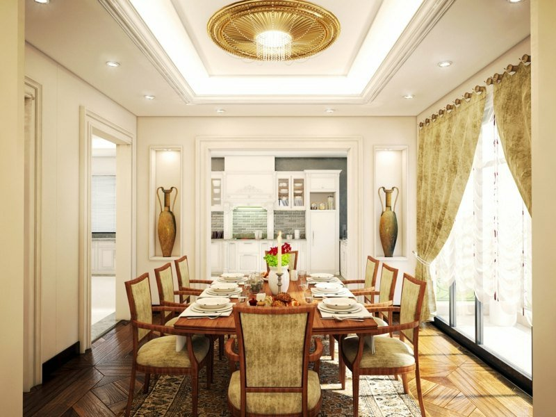 k chengestaltung nach feng shui esszimmer innendesign zenideen. Black Bedroom Furniture Sets. Home Design Ideas