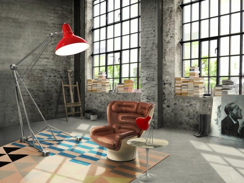 wohnungseinrichtungen und industrielles vintage