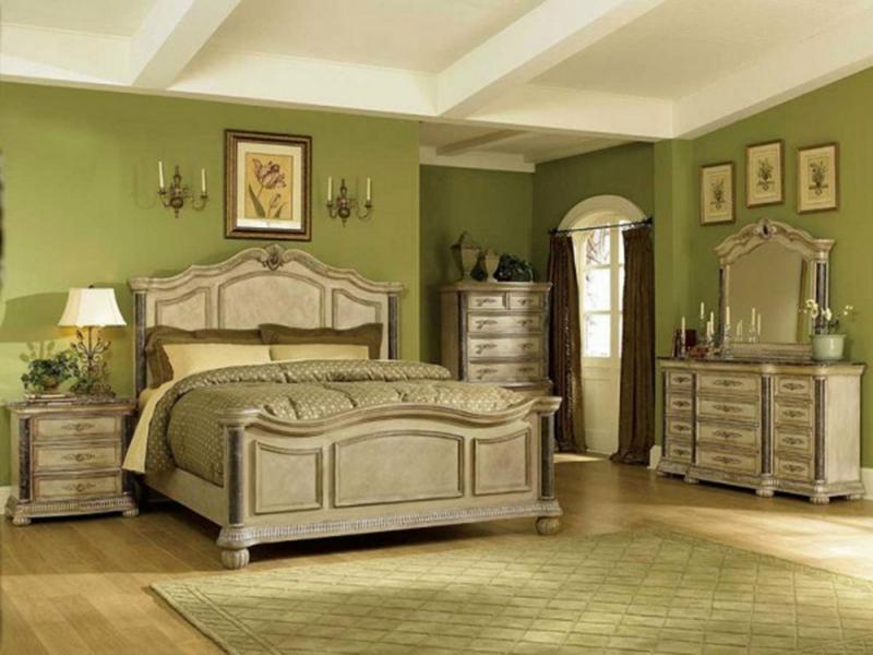 kombination in grau und grün für die wohnungseinrichtungen im vintage stil
