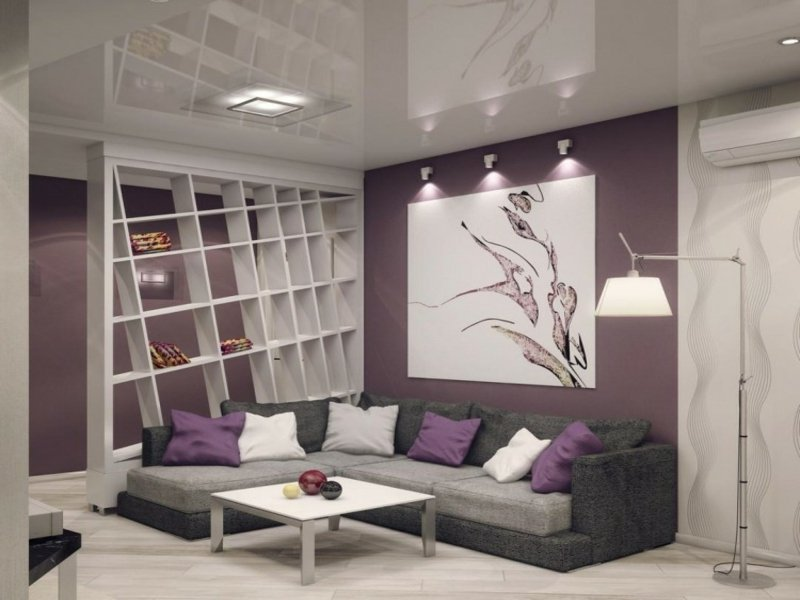 Wohnzimmer Lila Braun ~ Wohndesign Ideen