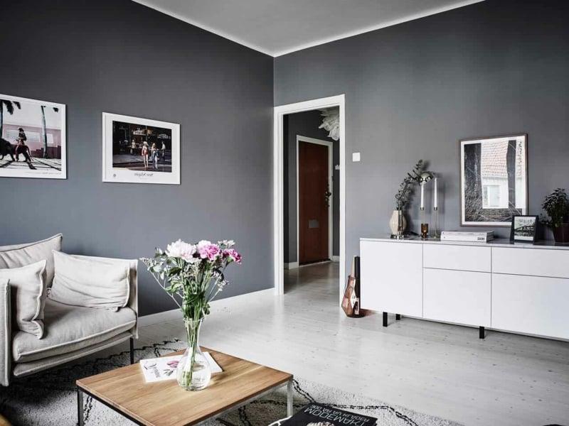 Wohnzimmer Inspiration In Graunuancen Innendesign Wohnzimmer