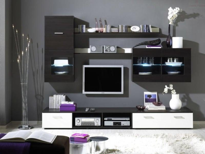 Wohnzimmer Inspiration und lila Farbe