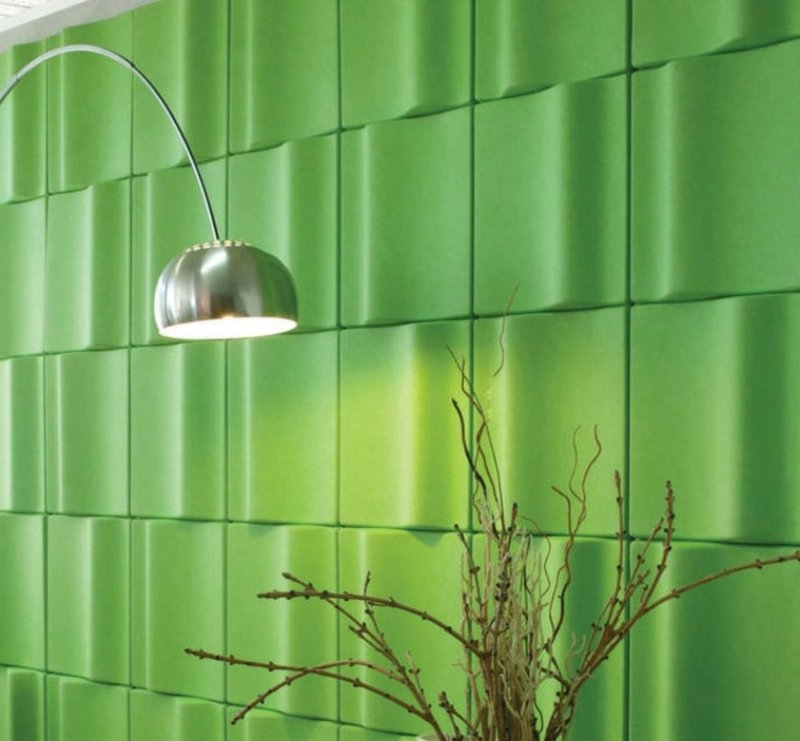 grüne Akustikplatten