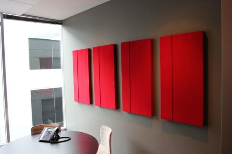 rote Akustikplatten
