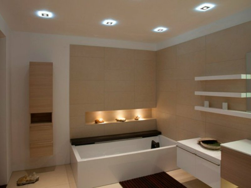 zwei schöne typen von badbeleuchtung