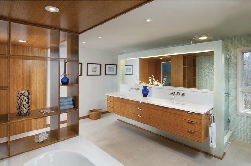 Möbel aus Bambus Badezimmer