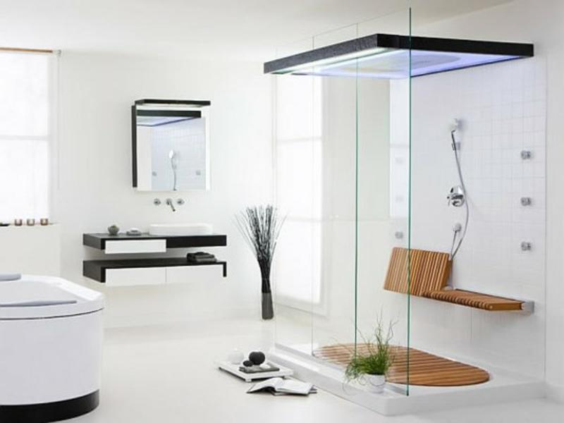 helle badezimmergestaltung und weiße farben
