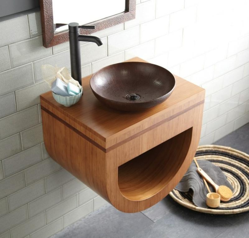 Waschbecken aus Bambus Traumbäder