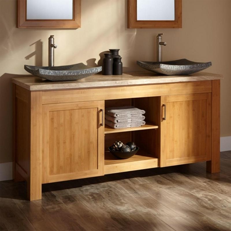 Traumbäder Badezimmerdesign Möbel aus Bambus