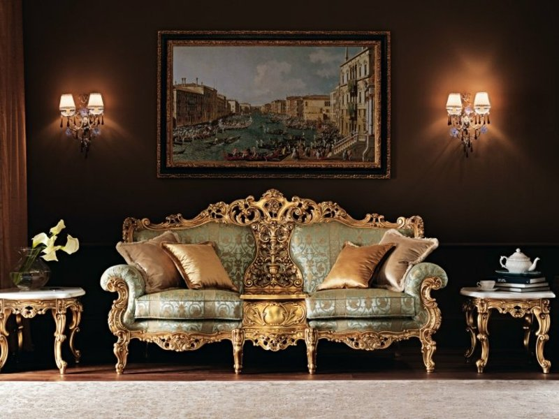 Einrichtung eines Wohnzimmers im Barock Stil