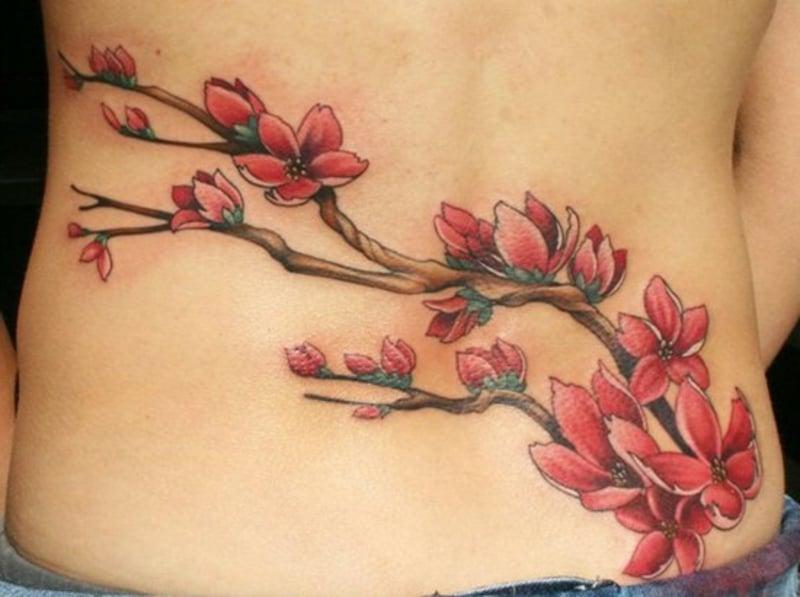Tattoos Blumen und ihr Symbolik