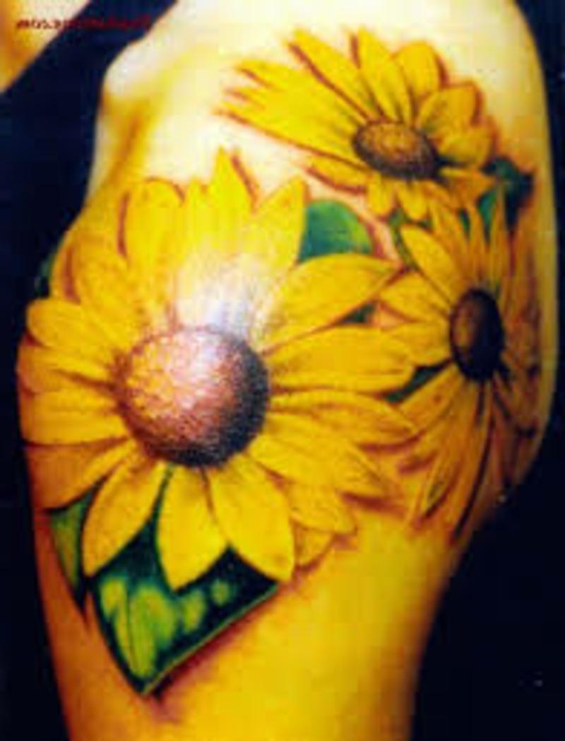 Tattoos Blumen und ihr Symbolik Sunflower